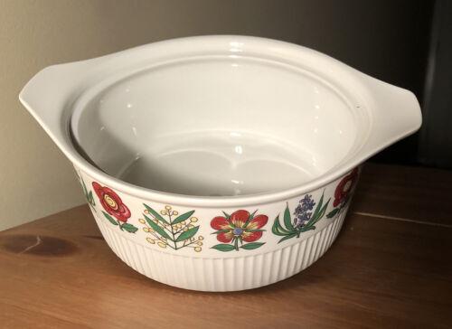 vtg villeroy & boch luxembourg souffle/casserole/vegetable platter/plate handles