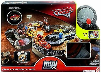 FLG71 Disney Pixar Cars Mini Racers Crank & Crash Derby Playset No