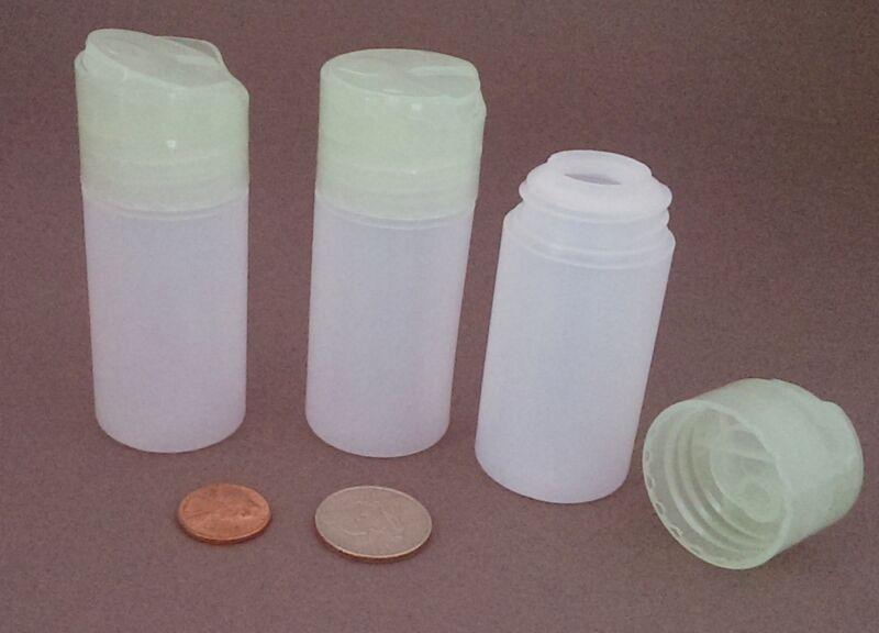 10 Small Plastic HDPE Dispensing Bottles ~ BPA-free 1.5oz travel size in USA