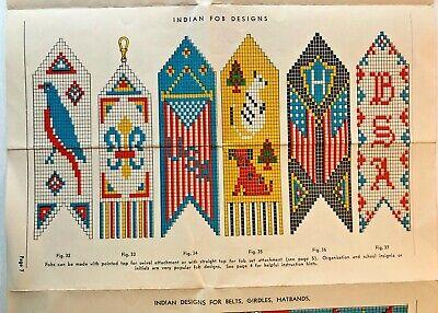 INDIAN BEAD CRAFT 1935 Walco Bead Co. New York N Y Sautoir Necklaces Fob Designs