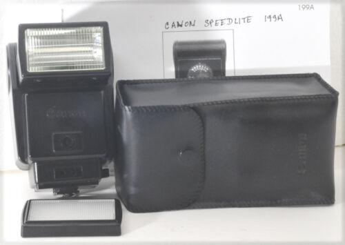 Canon Speedlite 199A flash unit for A & T series Canon FD SLRs, w/ case, IM, dif