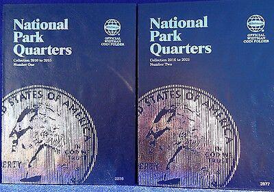 Whitman National Parks Quarters Volume 1 & 2, 2010-2021 Coin Folder Album Book