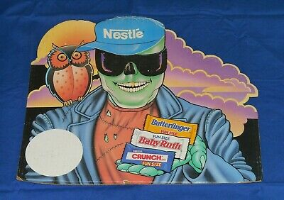 Nestle Halloween Candy (vintage 1980's NESTLE'S CANDY HALLOWEEN SIGN store display Butterfinger)