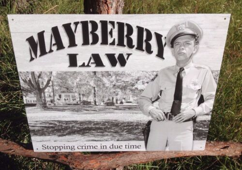 Andy Griffith TV Show Fife Mayberry Law Metal Sign Tin Vintage Garage Bar Wall