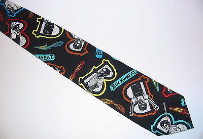 Buckwheat Ralph Marlin Cotton Necktie 90's Our Gang Little Rascals Gift USA NWOT