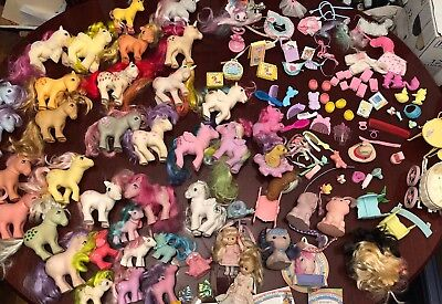 Huge Lot 40+ Vintage 1980s My Little Pony Ponies, Accessories And Play sets for sale  Farmingdale