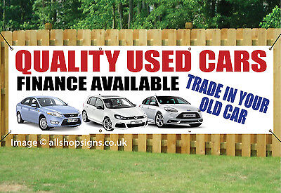 QUALITY USED CAR SALE OUTDOOR SIGN GARAGE BANNER waterproof PVC + Eyelets 002