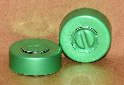 20mm Aluminum Center Tear Serum Vial Seals Green - Qty. 50