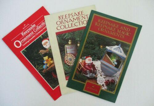 Hallmark Keepsake Ornaments 1982, 1985 & 1987 Dream Books Brochures