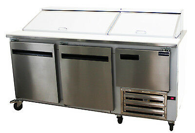 Coolman Commercial 2-12 Door Refrigerated Sandwich Prep Unit 72