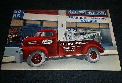 Ford Wrecker Truck, Gateway Motors, Albany New York Vintage Postcard