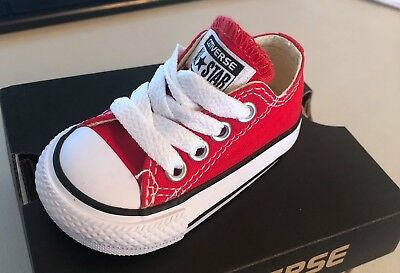 Converse Chuck Taylor Star Ox Red White Infant Toddler Boys & Girls Shoes Sizes