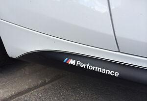 2x BMW M Performance side skirt White decal sticker logo F20 F30 E60 F10 E90 E46