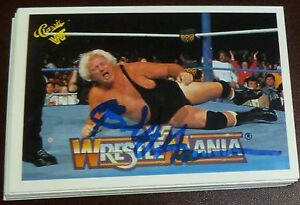 Bobby-Heenan-Signed-1990-Classic-WWE-Card-90-Wrestlemania-V-WWF-The-Brain-Auto