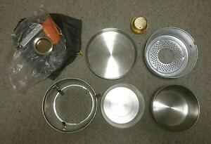 Tatonka alcohol burner camping stove and pot set Griffith South Canberra Preview