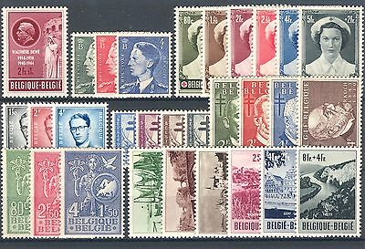 BE - BELGIUM 1953 complete year set MNH
