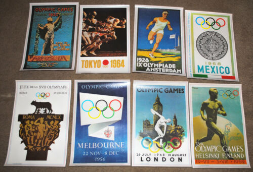 Set Of Eight Olympic and B.C. Placemats Johnny Hart