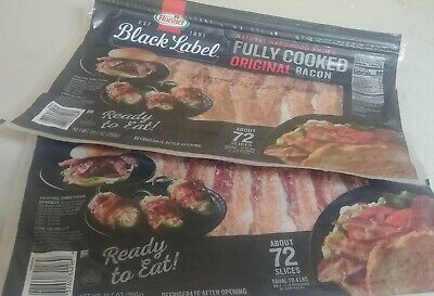 Hormel Black Label Fully Cooked Bacon 72 slices - pack of 2