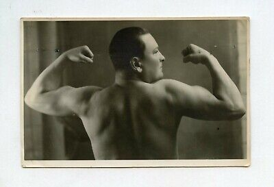 # 11 VINTAGE PHOTO BEEFCAKE MUSCLE MAN NUDE BACK STRONGMAN 1938 SNAPSHOT GAY