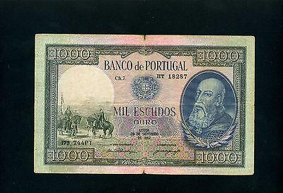 Portugal 1000 escudos 1942 - P156 BWC - VF