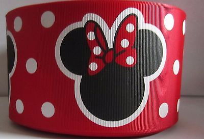 GROSGRAIN MINNIE MOUSE RED DISNEY 3