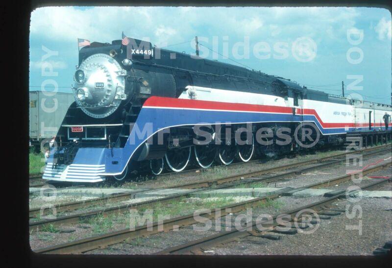Original Slide American Freedom Train 4-8-4 4449 Melrose Park IL In 1975
