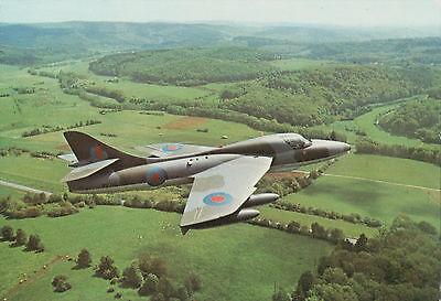 Postcard of Hawker Hunter T7 Trainer Jet Aeroplane