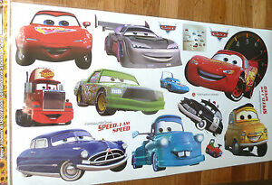 Grand disney cars lightning mcqueen autocollant mural d coration nurserie ebay for Autocollant decoratif mural