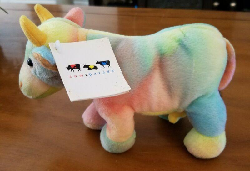 Cow Parade Rainbow Plush Cow