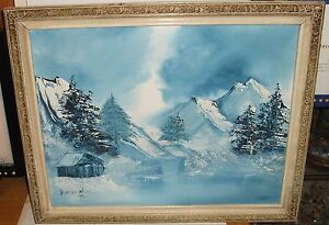 DOROTHY-WELLS-ORIGINAL-OIL-ON-CANVAS-WINTER-LANDSCAPE-PAINTING