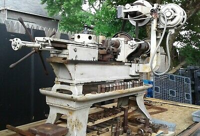 Pratt Whitney Turret Metal Lathe No3single-phase 16swing Lots Of Attachments