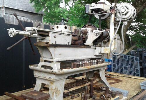 "Pratt & Whitney Turret Metal Lathe No3,Single-phase 16""Swing Lots of Attachments"