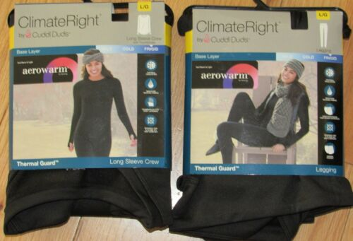 ClimateRight by Cuddl Duds aerowarm base layer set NWT womens