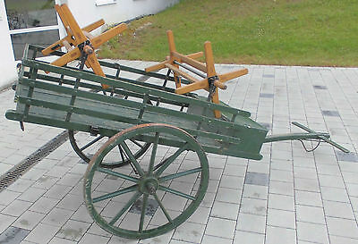 transport leiterwagen schlauch wagen karre schlauchwagen alt werks feuerwehr rar