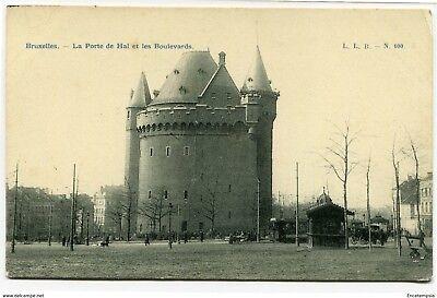 CPA -Carte postale-Belgique -Bruxelles - La Porte de Hal et les Boulevards
