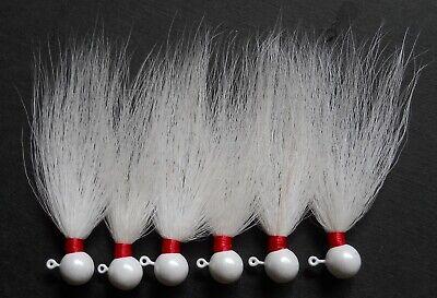 1 #1112 Custom Hand Tied 1//8 oz Bucktail Jigs