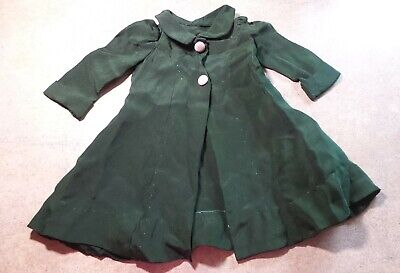 ANTIQUE! DARK Green DRESS JACKET for your COMPOSITION CHINA and BISQUE DOLLS