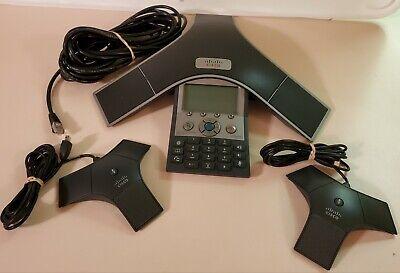 Cisco Polycom Ip Conf. Station Speaker Phone Cp-7937g. Incl Orig Box 2 Mics