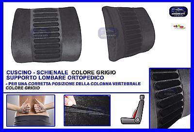 Cuscino schienale auto supporto Schiena sedile lombare ortopedico sciatica Grey