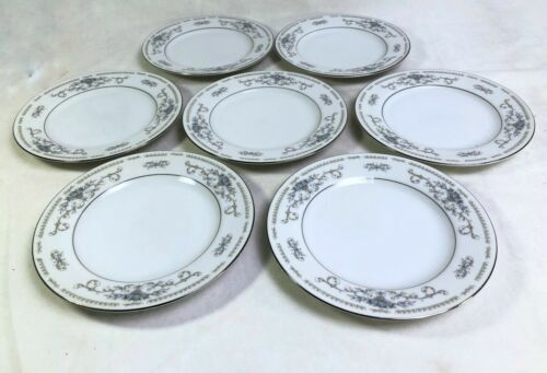 "(7)  Wade Diane Fine Porcelain China 6-3/8"" Bread Butter Plates Excellent!!"
