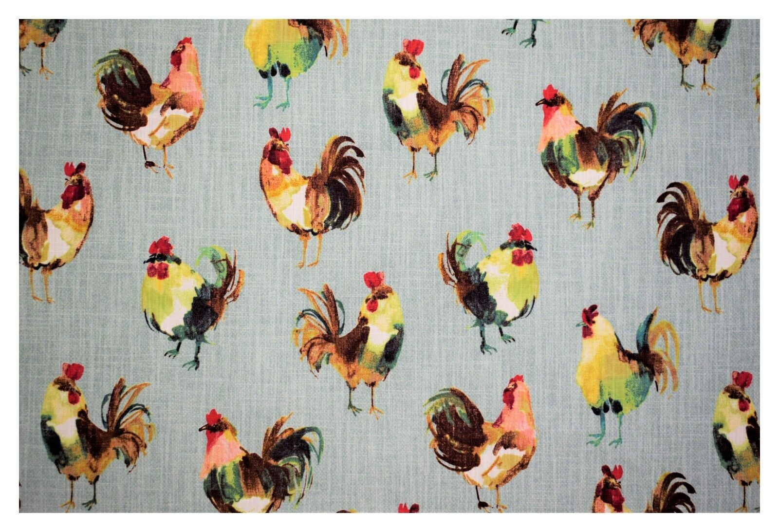 Richloom Rooster Farm 100% Cotton Upholstery Drapery Home De