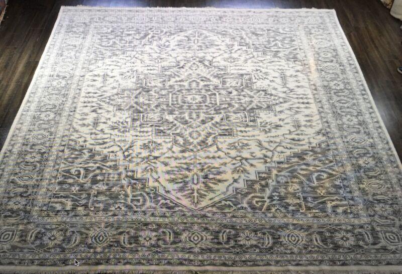 Intricate Indian - Tribal Oriental Rug - Nomadic Carpet - 12.4 X 14.8 Ft