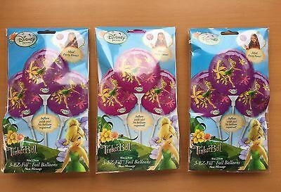3x Tinker Bell Ballons a 3 Stück (gesamt 9 Stück) 23cm Disney (Tinkerbell Ballons)