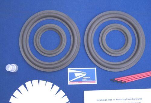 AR48 / AR48B / AR48S Speaker Foam Surround Woofer & Midrange Driver Repair Kit