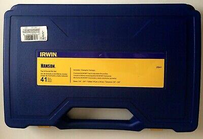 Irwin Hanson 41 Piece Tap And Round Die Set 14 - 34 25941 New In Box