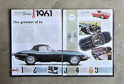 JAGUAR E-TYPE 1961 MANUAL CONVERTIBLE Auto Magazine Page Classic Review Article for sale  Shipping to United Kingdom