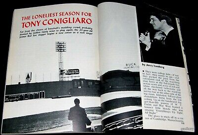 Tony Conigliaro Red Sox (TONY CONIGLIARO 1968 PICTORIAL LIFE AFTER INJURY RED SOX ROCK SINGER 23-YEAR-OLD)