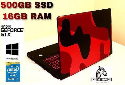 GAMING LAPTOP i7 3.4GHz lenovo 500GB SSD 16GB RAM SLI nvidia geforce