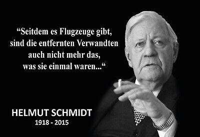 Helmut Schmidt Spruch 4 Blechschild Schild gewölbt Metal Tin Sign 20 x 30 cm