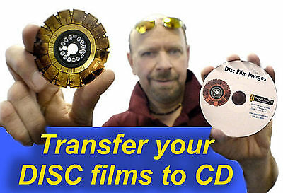 Disc Films (Kodak, Fuji or other brand) scanned in high resolution to CD
